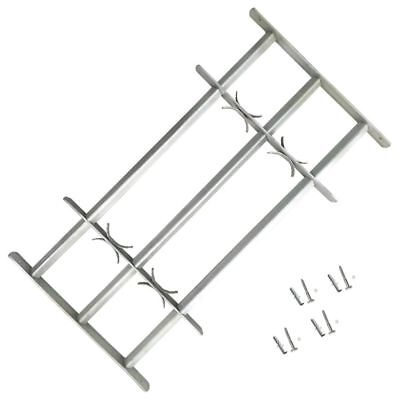 B#Adjustable Window Security Grilles Bars Shed Office with 3 Crossbars 700-1050