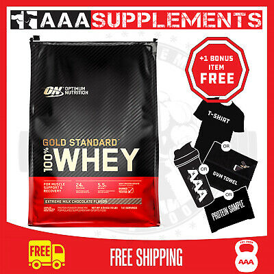 OPTIMUM NUTRITION GOLD STANDARD 100% WHEY |10lbs|4.5kg|138+ Servings|Protein