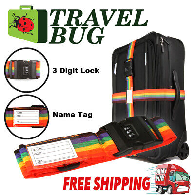 Password Travel Luggage Suitcase Secure Lock Safe Nylon Packing Belt Strap
