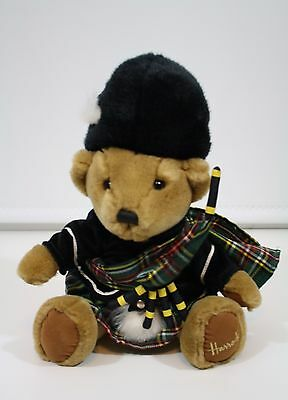 Harrods Teddy Bear Scottish Piper Plush London Kilt Bagpipes Knightsbridge