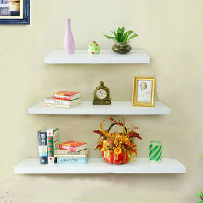 High Gloss /Matt White Floating Shelves Wall Shelving Storage Display bookcases