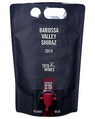 Tote Wines Barossa Valley Shiraz Pouch 2014 1.5L case of 6 Dry Red Wine