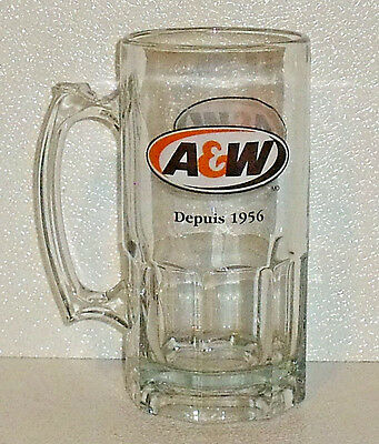 """A&W Root Beer Mug Stein Cup 8"""" Vtg Rootbeer Glass A & W Canada Since 1956"""