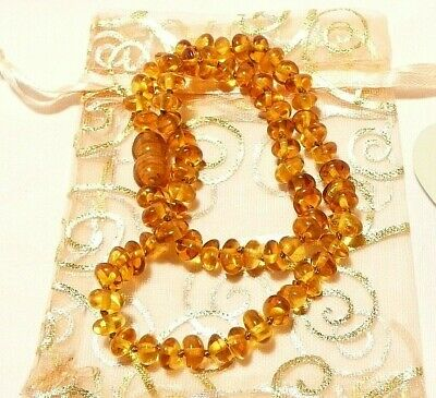 """Genuine Baltic Amber Childrens Necklace Certified 32Cm """"New"""" Auz Seller"""