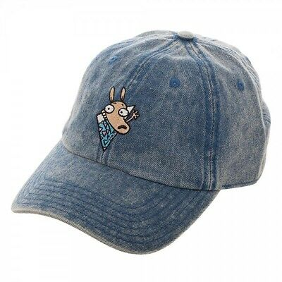 Nickelodeon Rocko s Modern Life Denim Dad Hat Slouch Cap Curved Bill  Adjustable de78aeeff8b7