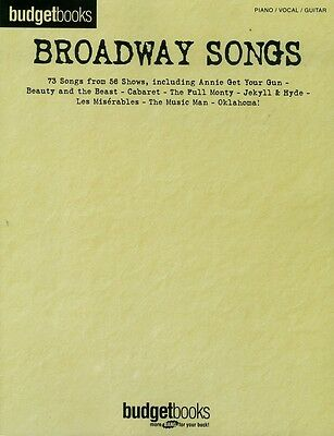 Broadway Songs Budget Book Series for Piano Vocal Guitar PVG Songbook