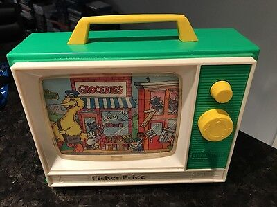 1984 Fisher Price Sesame Street Music Tv Vintage