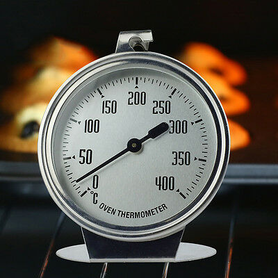 Stainless Steel Oven Cooker Dial Thermometer Temperature Gauge 400ºC BBQ Grill