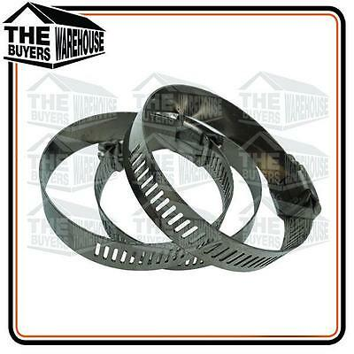 45mm-60mm Stainless Steel Worm Drive Hose Clamp Fuel Pipe Tube Clips water x 10