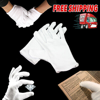 White Work Jewellery Handling Costume Cotton Soft Thin Gloves