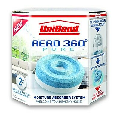UniBond Aero 360 Moisture Absorber Refills Pack of 2 Humidity Absorber Device