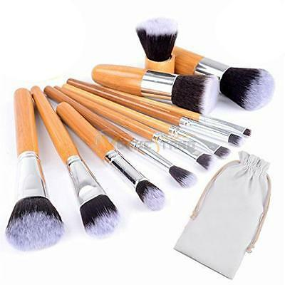 New 11Pcs Cosmetic Makeup Brushes Kit Set Powder Foundation Eyeshadow Brush Tool