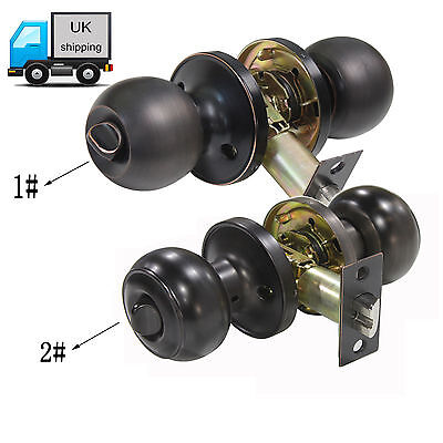 Oil Rubbed Bronze Privacy Door Lock Keyless Knobs Bathroom Bedroom Door Handles