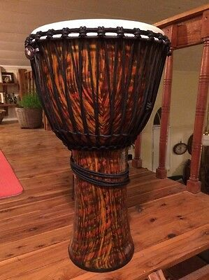 """Toca Freestyle Djembe 14"""" Lava Burst synthetic lightweight drum + bag + harness"""