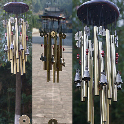 Wind Chimes Bell Copper 13 Tubes Hanging Outdoor Yard Garden Home Decor Ornament