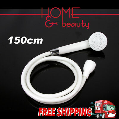 SHOWER SPRAY Head Heads Hand Held Rubber Hose Bathroom Handheld Bidet Douche