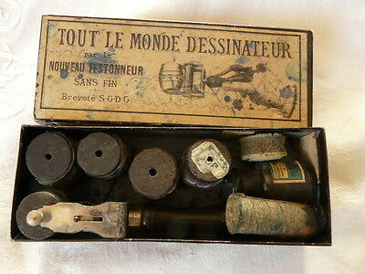 Antique French Wood Printing Wheels  Set Roller stamps for Fabric Textile