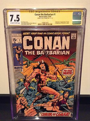 Conan the Barbarian #1 CGC 7.5 SS Roy Thomas (1st app CONAN)