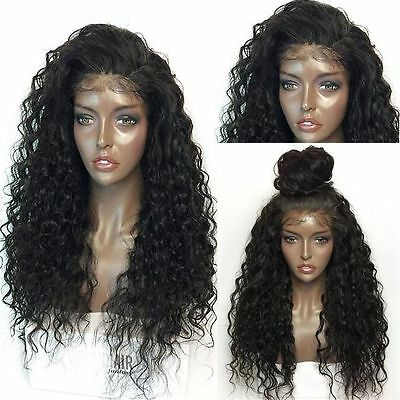Long Full Wavy Front Lace Wig Afro Kinky Curly Natural Hair Wigs Women Black New