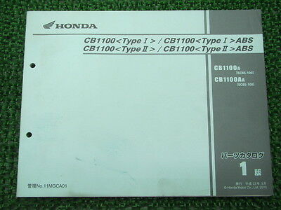 HONDA Genuine Used Motorcycle Parts List CB1100 Type I Ii SC65 CQ87A A
