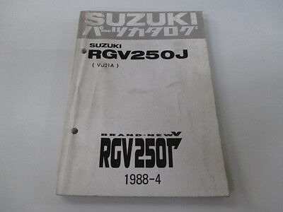 SUZUKI Genuine Used Motorcycle Parts List RGV250 Gamma VJ21A