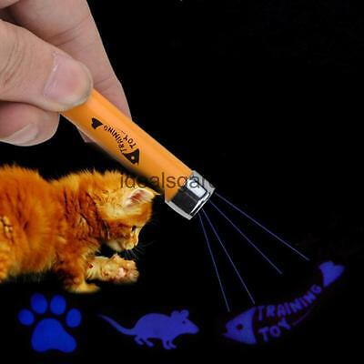 Adorable LED Laser Stick Cat Supplies Training Toys Fish / Mouse / Footprint