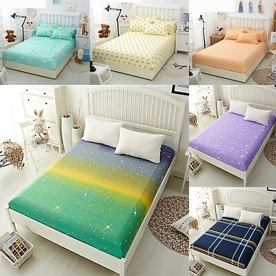 Flora Color Fitted Sheet Twin Full Queen King Cotton Bed Sheet Cover 3 Size New