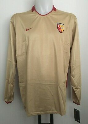 Rc Lens Player Issue S/s Gold Home Shirt By Nike Size Adults Xl Brand New