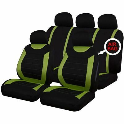 Universal Car Carnaby Green Black Washable Seat Covers Set Airbag Safe Full Set