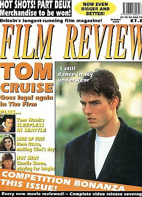Film Review Oct 93 Tom Hanks, Cruise, Rene Russo, Charlie Sheen Ex condition.