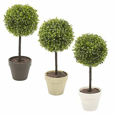 Potted Buxus Box Ball Plant Decorative Artificial Indoor Outdoor Garden Pot NEW