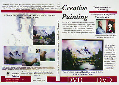 Oil Painting Instructional DVD How to paint Mountains the easy way by Jon & Bon