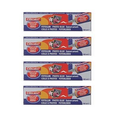 **MULTIBUY** COLLALL® PHOTO GLUE 100ml x 4 BOXES  ONLY £9.75 **FREE UK POSTAGE**