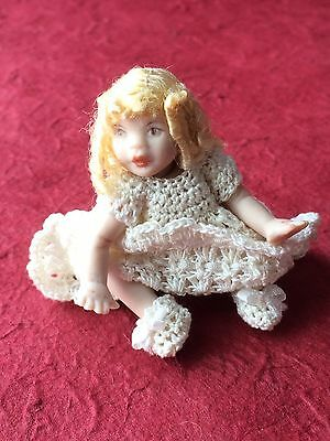 Vintage Porcelain Baby/Toddler Doll 12th Scale