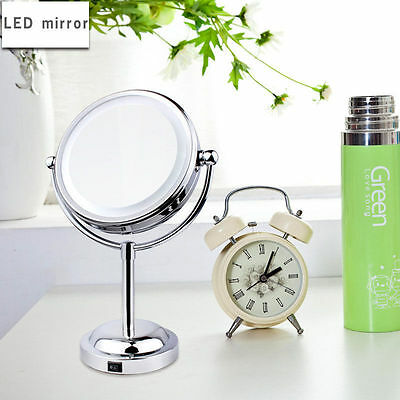 6 Inch Led Cosmetic Mirror With Light Table Stand 1/3X Magnify Make-Up Mirror UK