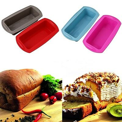 Non-stick Silicone Toast Bread Cake Baking Mold Loaf Tin Bakeware Pan Brotform