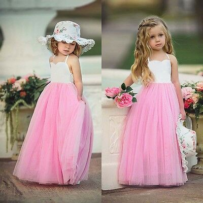 Flower Girl Dress Kids Baby Party Wedding Bridesmaid Pageant Formal Tutu Dresses