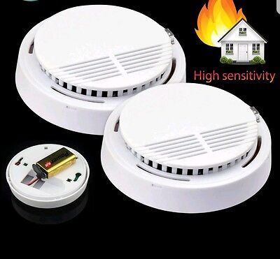 Smoke Alarm Fire Indicator Cordless Smoke Detector + Battery Included