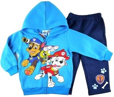 NEW Size 2~5 PAW PATROL TRACKSUIT WINTER BOYS BLUE JACKET TOP HOODY KIDS OUTFITS