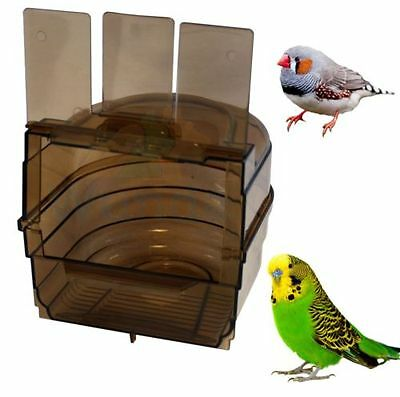 Happy Pet Bird Multi Cage Bird Bath for Budgies Canaries Finches