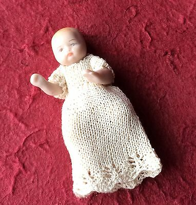 Vintage Baby Doll Porcelain 12th Scale