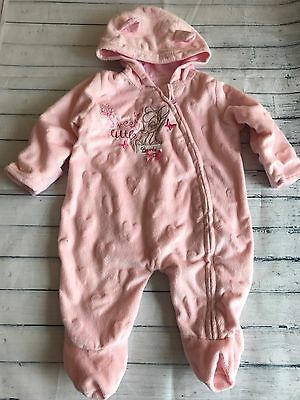 Baby Girls Clothes Newborn - Disney Bambi Velour Snowsuit Pramsuit All in One -