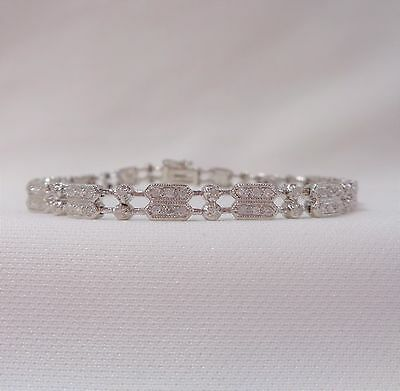 Art Deco Inspired 1.20ct Diamond Bracelet in 9ct White Gold