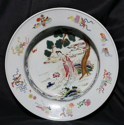 Marvelous Rare Antique Chinese Porcelain Plate Decorative Collectible FA306
