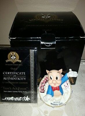 Goebel Looney Tunes That's All Folks 75th Anniversary Spotlight Ornament 1998