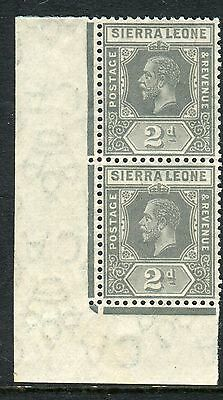 SIERRA LEONE-1912-21 2d  Greyish Slate INVERTED WMK superb unmounted Sg 115w