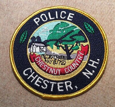 NH Chester New Hampshire Police Patch