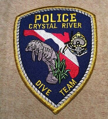 FL Crystal River Florida Dive Team Police Patch