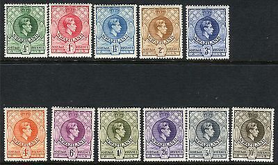 SWAZILAND-1938-54 A mounted mintPerf 13½ set of 13 Sg 28-38