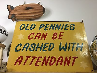 Antique Fairground wooden sign panel - Hand painted / Vintage signs
